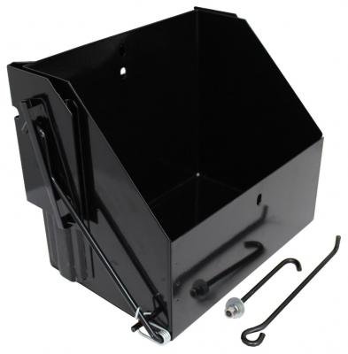 STAINLESS STEEL BLACK DROP DOWN BATTERY BOX