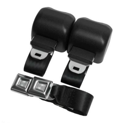 Jamco Parts Interior Items Seat Belts 1968 74 Chevy Nova Two Point Seat Belt Kit Includes 2 Sets Of Two Point Retractable Seat Belts And Hardware Available With Chrome Push Button Style Or Aircraft