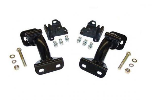 1968-72 Chevy C10, C20 Truck Tubular Engine Mount Brackets, V-8, Rubber Pads