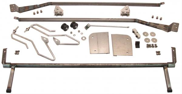 1953-56 FORD TRUCK HOOD TILT KIT - COMBO - PLAIN AND STAINLESS STEEL HOOD