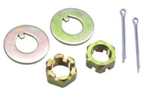 1949-54 Chevy Spindle Nut Kit - Zinc