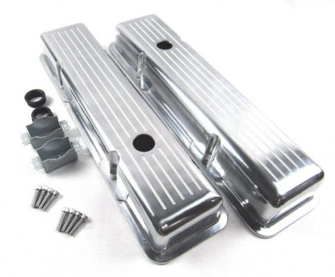 SMALL BLOCK CHEVY BALL MILLED VALVE COVER