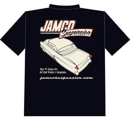 CLASSIC JAMCO SUSPENSION FRONT AND REAR LOGO TSHIRT BLACK