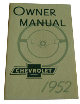 1952 CHEVY OWNERS MANUAL