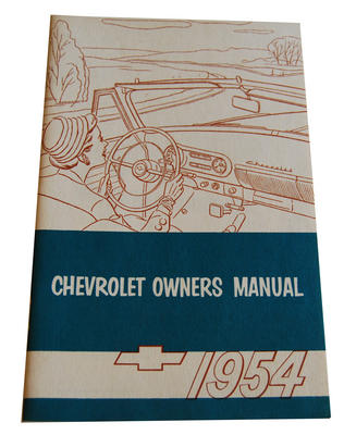 1954 CHEVY OWNERS MANUAL