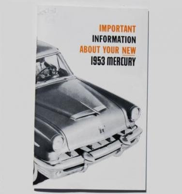 1953 MERCURY OWNERS MANUAL