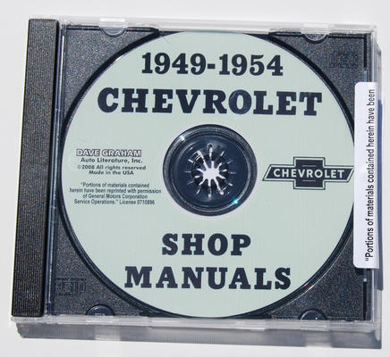 1949-54 CHEVY SHOP MANUAL CD