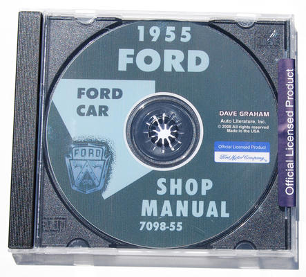 1955 FORD SHOP MANUAL CD